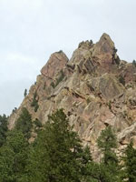 The expansive West Ridge of Eldorado Canyon, Colorado