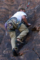 End of the day. One of the few times Greg top-roped a route!