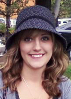 The birthday girl wearing a nice hat... Cell phone image