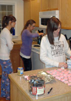 Christmas candy-making: one of Alissa's legacies to the kids