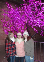 Three ladies and a violet tree in Boise