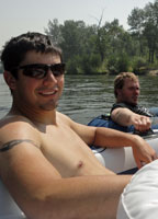Mike & Trenton on the Boise River