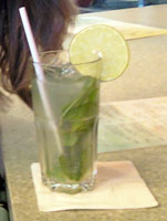 When in Miami, get thee a mojito! Cell phone image.