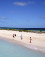 Barbuda has a huge lagoon on its western coast