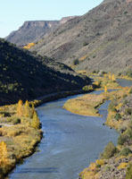 On the road to Cimarron Canyon, we crossed the Rio Grande...