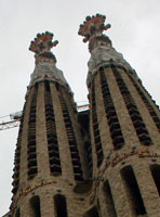 Gaudi's great big church in Barcelona, Spain. Picture by Alissa